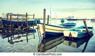 ボート, 古い, 釣り