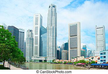 ボート, 波止場, シンガポール