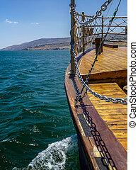 ボート, 海の 眺め, galilee, イスラエル