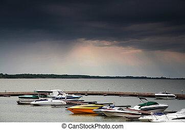 ボート, 港