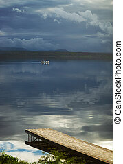 ボート, 釣り, 突堤