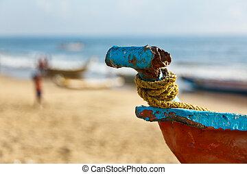 ボート, fishermen's, 浜