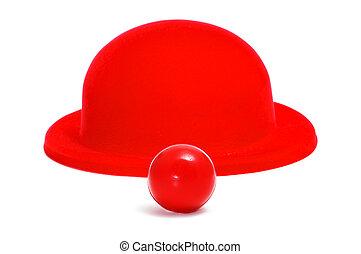 ボーリング競技者帽子, 鼻, ピエロ