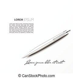 ボールペン, 飛行機, 影, 銀, あること