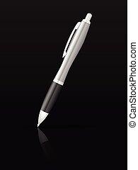 ボールペン, 黒, ペン