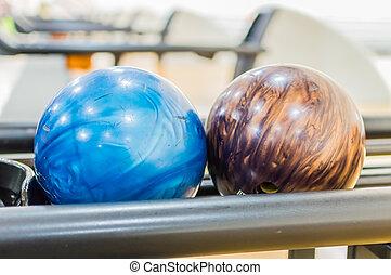 ボール, いくつか, guys., ボウリング, 準備ができた, あなた, 投球