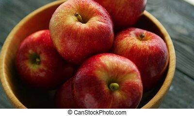 ボール, りんご, 赤, クローズアップ