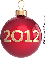 ボール, クリスマス, 年, 新しい, 安っぽい飾り, 2012