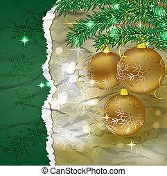 ボール, クリスマス, 背景