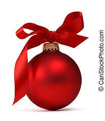 ボール, クリスマス, 赤