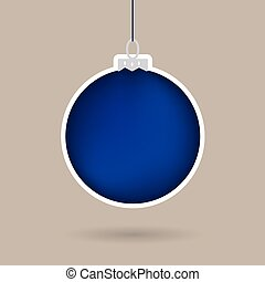 ボール, クリスマス, 青