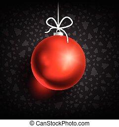 ボール, クリスマス, black-01