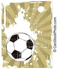 ボール, グランジ, 背景, サッカー, ベクトル