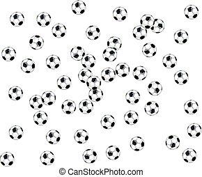 ボール, サッカー, 背景