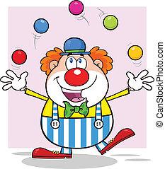 ボール, ジャッグルする, ピエロ, 幸せ