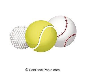 ボール, スポーツ装置, アイコン, セット