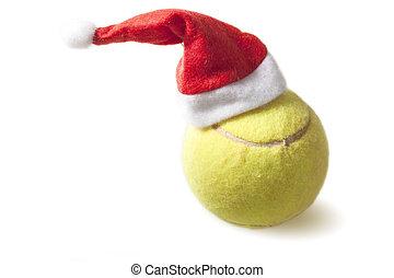 ボール, テニス, 帽子, santa