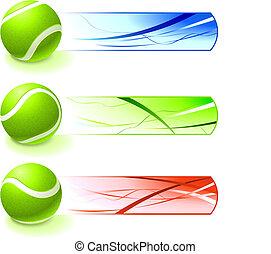 ボール, テニス, 旗, コレクション