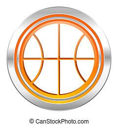 ボール, バスケットボール, 印, アイコン