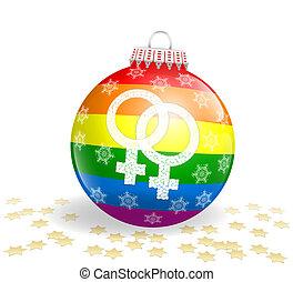 ボール, レズビアン, クリスマス