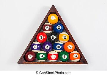 ボール, 三角形, の上, 間接費, 終わり, プール