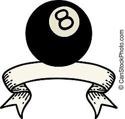 ボール, 入れ墨, 8, 旗