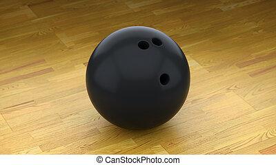 ボール, 床, 木, 黒, きれいにしなさい, ボウリング