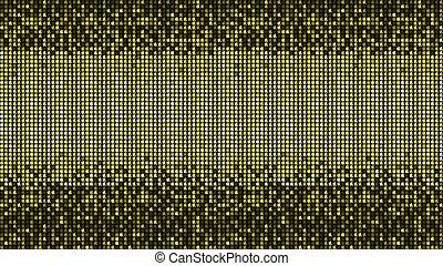 ボール, 抽象的, 黄色, ディスコ, レトロ, 背景, モザイク