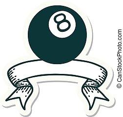 ボール, 旗, ステッカー, 8, 入れ墨