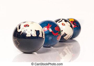 ボール, 療法, 中国語