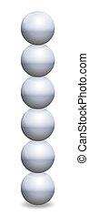 ボール, 積み重ねられた, 球, 鉄, タワー, バランス