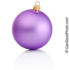 ボール, 紫色, 隔離された, 背景, 白い クリスマス