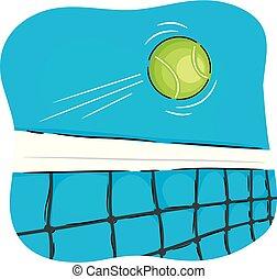 ボール, 網, テニス, イラスト