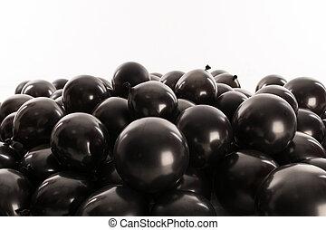 ボール, 膨らませることができる, バックグラウンド。, holiday., 黒, スタジオ, 白