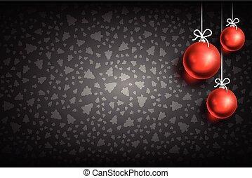 ボール, 装飾, クリスマス, background-01