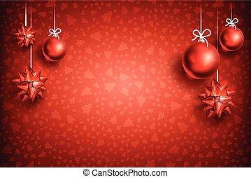 ボール, 装飾, クリスマス, background2-04