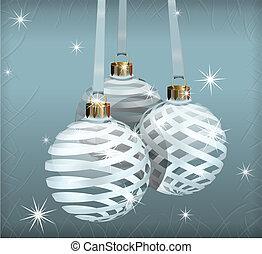 ボール, 透明, クリスマス