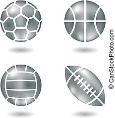 ボール, 金属