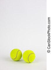 ボール, 隔離された, クローズアップ, 白い背景, テニス