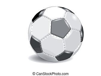 ボール, 隔離された, football., 背景, 白, サッカー