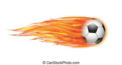 ボール, 飛行, フットボール, fire., サッカー, ∥あるいは∥