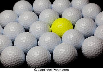 ボール, alternative:, 多数, 黄色, 単一, ボール, 混ぜられた, 白
