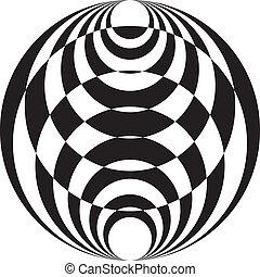 ボール, tridimensional, 抽象的, pseudo, 2, 背景