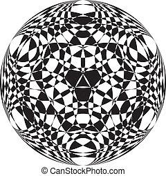ボール, tridimensional, 抽象的, pseudo, 3, 背景