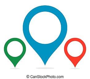 ポインター, 地図