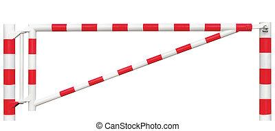 ポイント, ブロッカー, 明るい, ゲートで制御される, クローズアップ, 区域, 限られた, 隔離された, 閉じられた, 車, 門, 白, 道路, 入口の方法, 障壁, 止まれ, ナンキン錠, 交通, バー, 赤, ロックされた, 出入口, チェックポイント, ブロック, 記入項目, セキュリティー, 道