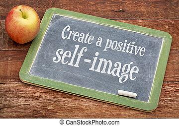 ポジティブ, 作成しなさい, 自己イメージ