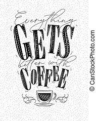 ポスター, コーヒー, よりよい