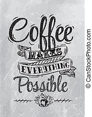 ポスター, コーヒー, レタリング