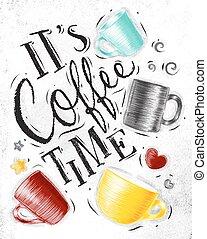 ポスター, コーヒー 時間